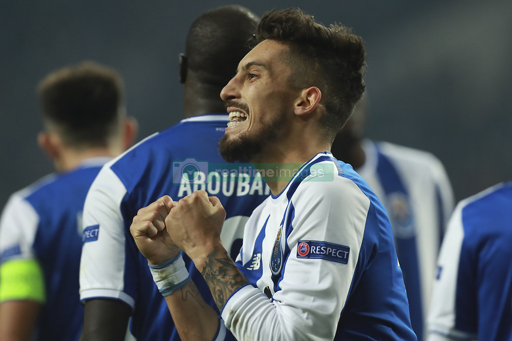 December 6, 2017 - Na - Porto, 06/12/2017 - Football Club of Porto received, this evening, AS Monaco FC in the match of the 6th Match of Group G, Champions League 2017/18, in Estádio do Dragão. Alex Telles celebrates goal  (Credit Image: © Atlantico Press via ZUMA Wire)