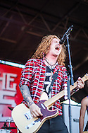 Travis Clark of the band We The Kings performs at the 2012 Vans Warped Tour in San Francisco California on June 23, 2012.