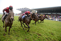 Jockey J J Slevin on board General Principle, (second left) on the way to winning the Boylesports Irish Grand National Chase, during BoyleSports Irish Grand National Day of the 2018 Easter Festival at Fairyhouse Racecourse, Ratoath, Co. Meath.