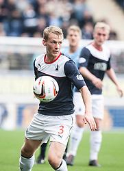 Falkirk's Stephen Kingsley.<br /> Falkirk 3 v 1 Dundee, 21/9/2013.<br /> ©Michael Schofield.
