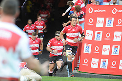 070418 Emirates Airlines Park, Ellis Park, Johannesburg, South Africa. Super Rugby. Lions vs Stormers. The Lions team exit the tuneel onto the field.<br />Picture: Karen Sandison/African News Agency (ANA)