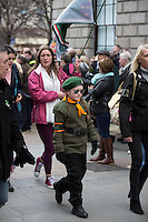 A young girl marches to Moore Street in Dublin during easter monday celebrations<br />Pic:Mark Condren<br />28.3.2016
