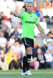 Joseph Mills of Forest Green Rovers gives orders - Mandatory by-line: Nizaam Jones/JMP- 17/07/2018 - FOOTBALL - New Lawn Stadium - Nailsworth, England - Forest Green Rovers v Leeds United - Pre-season friendly