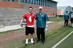 A Group Photo of the Quarterback who attended the Philadelphia Eagles NFL football rookie camp at the teams practice facility on Saturday, May 17, 2014. (Photo by Brian Garfinkel)