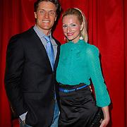 NLD/Amsterdam/20120327 - Premiere Cirque du Soleil Corteo, Winston Post en partner Denise van Rijswijk