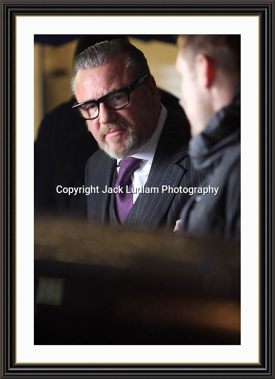 "RAY WINSTONE SHOOTING LONDON GANGESTER FLICK ""LONDON BOULAVARD""   PICADILLY CIRCUS Large A3 Ltd Edition Archival Museum-quality Archival signed Framed Photograph"