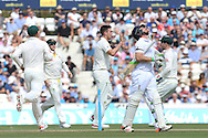 Mitchell Marsh of Australia celebrates the wicket of Ian Bell of England during the 3rd day of the Investec Ashes Test match between England and Australia at the Oval, London, United Kingdom on 22 August 2015. Photo by Phil Duncan.