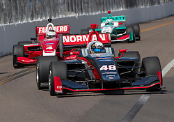 March 9, 2019 - St. Petersburg, FL, U.S. - ST. PETERSBURG, FL - MARCH 09: Ryan Norman (48) during the start of the Indy Lights Race of St. Petersburg on March 9 in St. Petersburg, FL. (Photo by Andrew Bershaw/Icon Sportswire) (Credit Image: © Andrew Bershaw/Icon SMI via ZUMA Press)