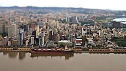 Vista aérea do Cais da Mauá, em Porto Alegre. FOTO : Jefferson Bernardes/Preview.com
