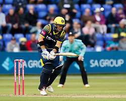 Glamorgan's Colin Ingram is caught by Surrey's Gareth Batty<br /> <br /> Photographer Simon King/Replay Images<br /> <br /> Vitality Blast T20 - Round 14 - Glamorgan v Surrey - Friday 17th August 2018 - Sophia Gardens - Cardiff<br /> <br /> World Copyright © Replay Images . All rights reserved. info@replayimages.co.uk - http://replayimages.co.uk