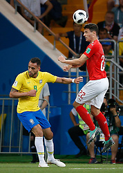 June 17, 2018 - Rostov Do Don, Rússia - ROSTOV DO DON, RO - 17.06.2018: BRAZIL VS SWITZERLAND - Renato Augusto from Brazil plays for Fabian Schaer from Switzerland during a match between Brazil and Switzerland for the first round of Group E of the 2018 World Cup, held at the Rostov Arena in Rostov on Don, Russia. (Credit Image: © Marcelo Machado De Melo/Fotoarena via ZUMA Press)