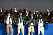 """Henley on Thames, United Kingdom, 8th July 2018, Sunday, Fawley Challenge Cup, Windsor Boy's School,   """"Fifth day"""", of the annual,  """"Henley Royal Regatta"""", Henley Reach, River Thames, Thames Valley, England, © Peter SPURRIER, Prize Giving,"""