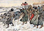Russo-Japanese War 1904-5: Russian General Kouropatkine giving order to retreat after the Battle of Moudken, March, 1904. From 'Le Petit Journal' Paris.