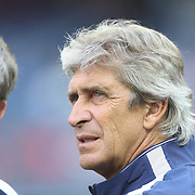 Manchester City Manager Manuel Pellegrini before the Manchester City Vs Liverpool FC Guinness International Champions Cup match at Yankee Stadium, The Bronx, New York, USA. 30th July 2014. Photo Tim Clayton