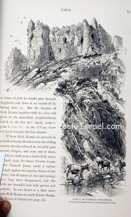 Historic illustration of the castle of Tiberias in Kana