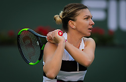 March 8, 2019 - Indian Wells, USA - Simona Halep of Romania in action during her second-round match at the 2019 BNP Paribas Open WTA Premier Mandatory tennis tournament (Credit Image: © AFP7 via ZUMA Wire)