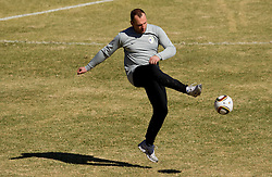 Miha Kosorog of NZS during friendly match between Slovenian football journalists and officials of Slovenian football federation at  Hyde Park High School Stadium on June 16, 2010 in Johannesburg, South Africa.  (Photo by Vid Ponikvar / Sportida)