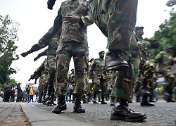 South Africa - Johannesburg - 12 October 2020 - .Protesting members of Umkhonto weSizwe Military Veterans Association (MKMVA) protest outside Premier David Makhura officers in Newtown.Picture: Itumeleng English/African News Agency(ANA)