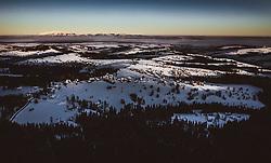 THEMENBILD - Sonnenaufgang über der winterlichen Landschaft Polens aufgenommen am 18. Januar 2019 in Zakopane, Polen // Sunrise over the winter landscape of Poland, Zakopane, Poland on 2019/01/18. EXPA Pictures © 2019, PhotoCredit: EXPA/ JFK