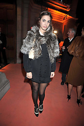 AMBER LE BON at Hats - an antology of Stephen Jones held at the V&A, London on 23rd February 2009.