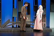 """Middletown, New York - The SUNY Orange Apprentice Players perform """"The End: An Apocalypse Anthology"""" at Orange Hall Theatre on April 13,  2017.  Under the direction of David Cohen, the student productions showcased """"This is How It Ends"""" by A. Rey Pamatmat, """"La Reina de Los Angeles"""" by Jennifer Haley, """"Apocalypse Apartments"""" by Allison Moore and """"Promageddon"""" by Dan Dietz. The remaining four pieces, """"The One About The Asteroid,"""" """"The One That Ends Itself,"""" """"La Muerte"""" and """"The One They Call The Bloop"""" are written by Marco Ramirez."""