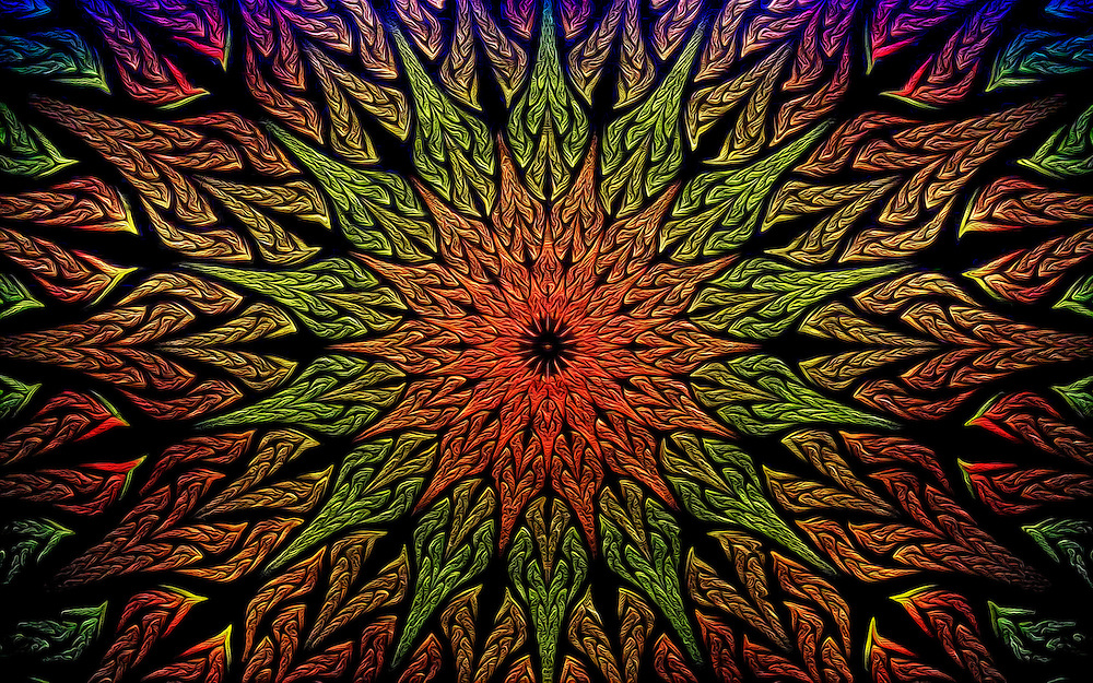 The Power Expands From The Center. Earth, Love and Power Enfold In This Fine Art Pattern