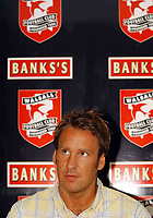 Photo. Richard Lane<br />Paul Merson signs for Walsall from Portsmouth. 18/07/2003
