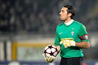"delusione GIANLUIGI BUFFON JUVENTUS<br /> Juventus Bayern Monaco<br /> Torino 8/12/2009 Stadio ""Olimpico""<br /> Champions League 2009/2010<br /> Foto Andrea Staccioli Insidefoto"