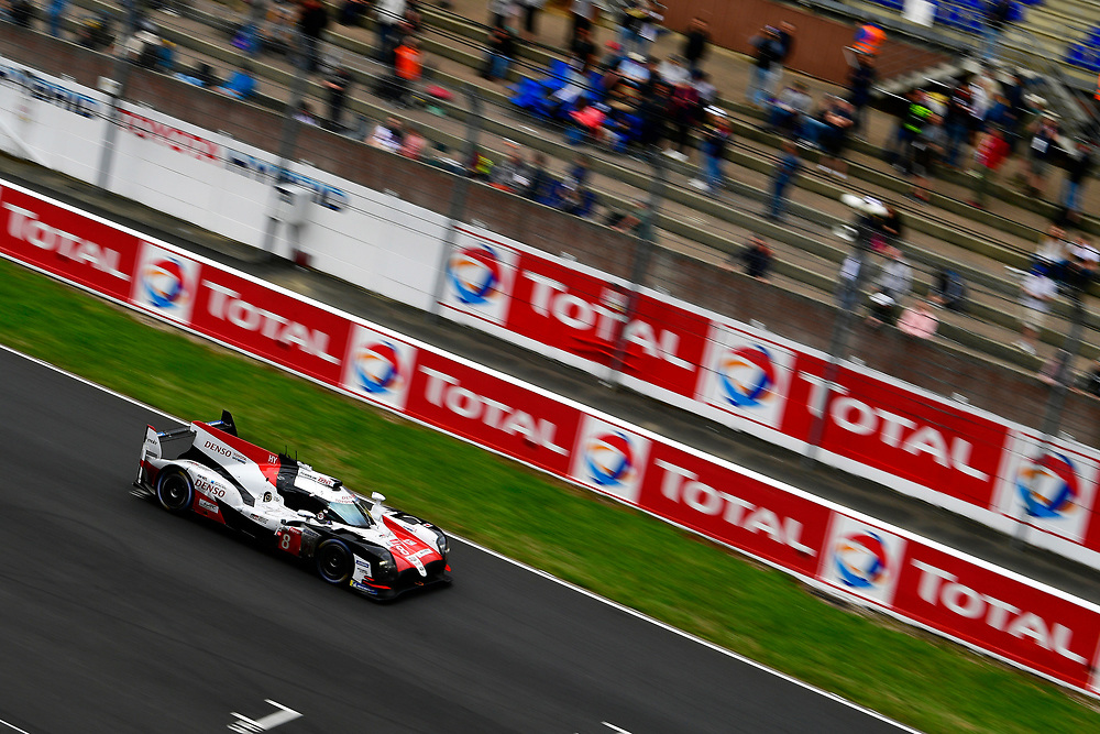 #8 Toyota Gazoo Racing Toyota TS050: Sébastien Buemi, Kazuki Nakajima, Fernando Alonso<br /> Sunday 17 June 2018<br /> 24 Hours of Le Mans<br /> 2018 24 Hours of Le Mans<br /> Circuit de la Sarthe  FR<br /> World Copyright: Scott R LePage