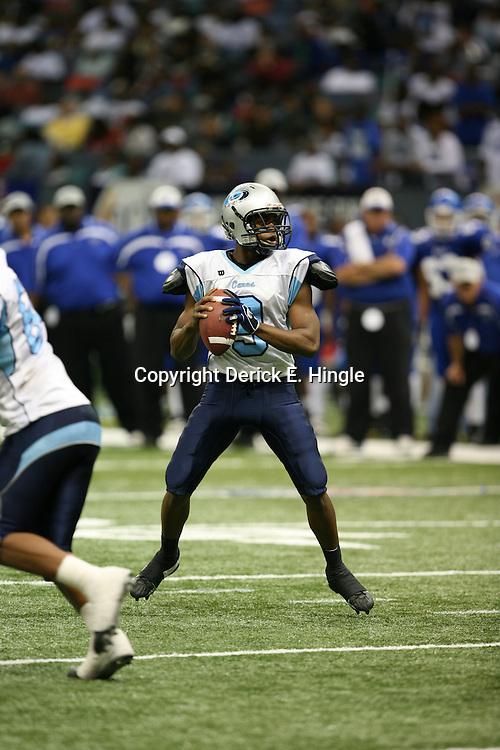 South Plaqueimines Hurricanes quarterback,  Ridge Turner #9.