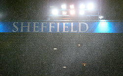 General view of Sheffield Wednesday signage in the rain
