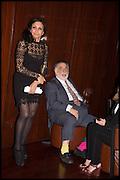 FRANCIS FORD COPPOLA; JACQUI SOLIMAN, Liberatum Cultural Honour for Francis Ford Coppola<br /> with Bulgari Hotel & Residences, London. 17 November 2014