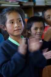Girl at school, Humacchuco, Peru, South America