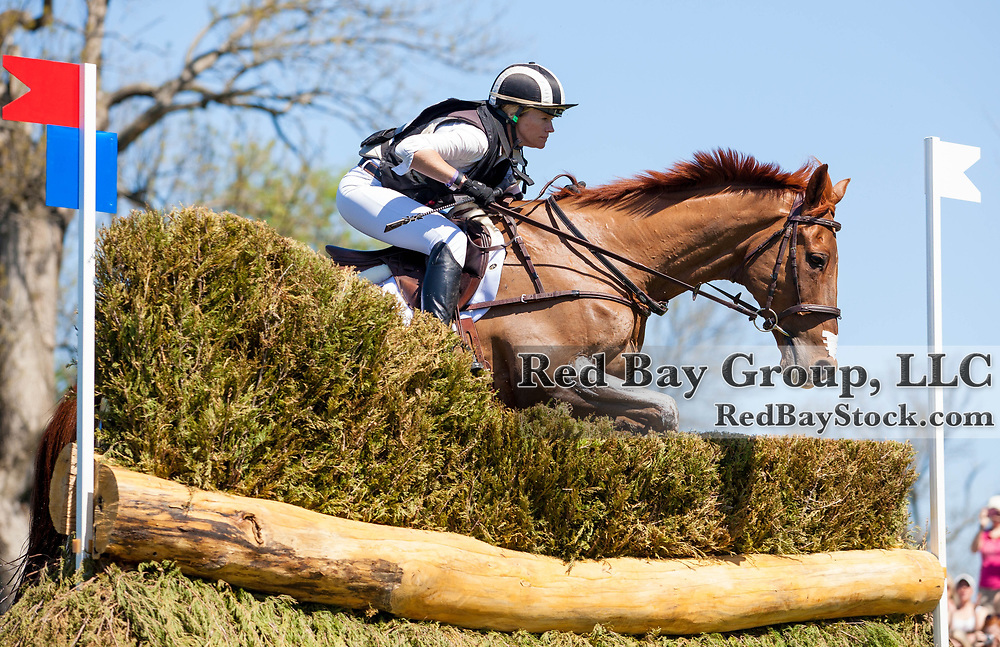 Sinead Halpin (USA) and Manoir De Carneville at the 2014 Rolex Kentucky Three-Day Event held at the Kentucky Horse Park in Lexington, KY.