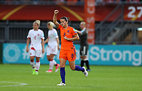 Football - 2017 UEFA Women's European [Euro] Championship - Group A : Netherlands vs. Denmark<br /> <br /> Sherida Spitse of The Netherlands celebrates scoring at Sparta Stadoin , Rotterdam.<br /> <br /> COLORSPORT/LYNNE CAMERON