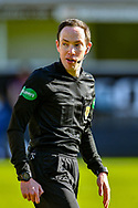 Referee Colin Steven during the SPFL Championship match between Dunfermline Athletic and Heart of Midlothian at East End Park, Dunfermline, Scotland on 3 April 2021.