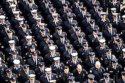 April 2, 2014 - Watertown, Massachusetts, U.S. - <br /> <br /> Thousands Attend The Funeral For Boston Firefighter<br /> <br /> Thousands of firefighters from across the nation gathered outside the Church of Saint Patrick to attend the funeral of fallen Boston Firefighter Lieutenant Edward Walsh. Walsh and fellow firefighter Michael Kennedy died in a nine-alarm blaze at 298 Beacon Street in Boston, Massachusetts.<br /> ©Exclusivepix