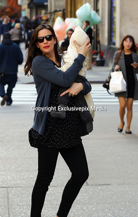 March 17, 2016 - New York, New York, U.S. - <br /> <br /> Actress LIV TYLER and her son Sailor Gardner leave their West Village house and go for a visit to the doctors<br /> ©Exclusivepix Media