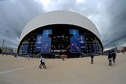 15.06.2016, Stade Velodrome, Marseille, FRA, UEFA Euro, Frankreich, Frankreich vs Albanien, Gruppe A, im Bild General view of the exterior of the stadium // General view of the exterior of the stadium during Group A match between France and Albania of the UEFA EURO 2016 France at the Stade Velodrome in Marseille, France on 2016/06/15. EXPA Pictures © 2016, PhotoCredit: EXPA/ Focus Images/ Kristian Kane<br /> <br /> *****ATTENTION - for AUT, GER, FRA, ITA, SUI, POL, CRO, SLO only*****