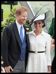 June 19, 2018 - Ascot, United Kingdom - Image licensed to i-Images Picture Agency. 19/06/2018. Ascot , United Kingdom. The Duke and Duchess of Sussex   on the opening day of Royal Ascot, United Kingdom. (Credit Image: © Stephen Lock/i-Images via ZUMA Press)