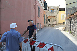 August 22, 2017 - Ischia, Italy - A house, destroyed in the earthquake, is seen in one of the more heavily damaged areas on August 22, 2017 in Casamicciola Terme, Italy. A magnitude-4.0 earthquake struck the Italian holiday island of Ischia early this morning during peak tourist season, killing two women. The earthquake occured just two days ahead of the first anniversary of an earthquake in central Italy in which 299 people died. (Credit Image: © Marco Cantile/NurPhoto via ZUMA Press)