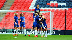 Millie Bright of Chelsea Women celebrates her goal after making it 0-1- Mandatory by-line: Nizaam Jones/JMP - 29/08/2020 - FOOTBALL - Wembley Stadium - London, England - Chelsea v Manchester City - FA Women's Community Shield