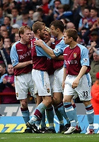 2003-05-03<br />Barclaycard Premiership<br />Aston Villa v Sunderland<br /><br />ASTON VILLA'S MATCH WINNER MARCUS ALLBACK CELEBRATES WITH TEAM MATES  DURING TODAYS PREMIERSHIP GAME.<br />PIC BY DANIEL HAMBURY/SPORTSBEAT IMAGES