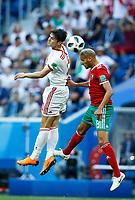 Sardar Azmoun (Iran) and Karim El Ahmadi (Morocco)<br /> Saint Petersburg 15-06-2018 Football FIFA World Cup Russia  2018 <br /> Morocco - Iran / Marocco - Iran <br /> Foto Matteo Ciambelli/Insidefoto