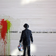 Stavanger Norway is known for its fantastic street art, much of it from its annual Nuart international street art festival. From 2008, this is by renowned UK artist Nick Walker.