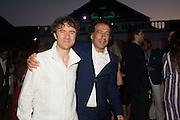 THOMAS HEATHERWICK; MARK WADHWA,, Serpentine's Summer party co-hosted with Christopher Kane. 15th Serpentine Pavilion designed by Spanish architects Selgascano. Kensington Gardens. London. 2 July 2015.