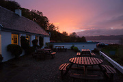 Inver restaurant on the shores of Loch Fyne on the 3rd November 2018 in Strathlachlan in the United Kingdom. Strathlachlan is on the Cowal peninsula in Argyll and Bute in the west of Scotland.