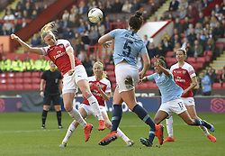 February 23, 2019 - Sheffield, England, United Kingdom - Arsenal defence under pressure during the  FA Women's Continental League Cup Final  between Arsenal and Manchester City Women at the Bramall Lane Football Ground, Sheffield United FC Sheffield, Saturday 23rd February. (Credit Image: © Action Foto Sport/NurPhoto via ZUMA Press)