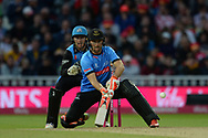 Laurie Evans of Sussex attempts to play the ramp shot during the final of the Vitality T20 Finals Day 2018 match between Worcestershire Rapids and Sussex Sharks at Edgbaston, Birmingham, United Kingdom on 15 September 2018.