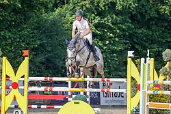 08, Youngster-Springprfg. Kl. M* 6-8j. Pferde,, Ehlersdorf, Reitanlage Jörg Naeve, 15. - 18.07.2021, Michael Grimm (GER), Calla Grande,